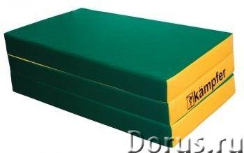 Мат детский гимнастический Kampfer №6 размер:150 х 100 х 10 складной (винилискожа) - Спорт товары -..., фото 1
