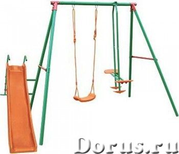 Детский комплекс DFC MSN-02 многофунциональный - Детские товары - Включает качели, двухместные качел..., фото 1