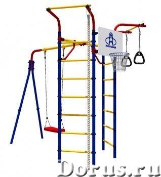 ДСК Дачник Космодром 14 - Детские товары - Состав модели: — 2 шведской стенки — 2 турника — А-образн..., фото 1