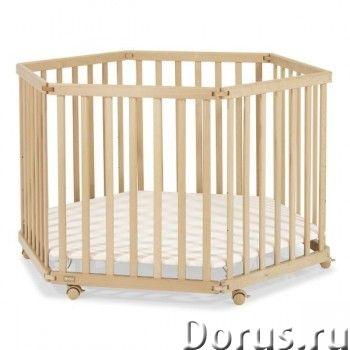 Манеж детский Kettler 6-ти секционный артикул: Н1060-3602 - Мебель для дома - Цвет дна Н1060-3602 Ро..., фото 1