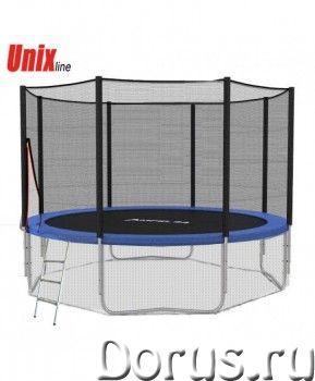 Батут уличный Unix Line 6 ft с сеткой лестницей - Спорт товары - Небольшой детский батут для развлеч..., фото 1
