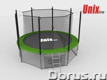 Батут уличный Unix Line 6 ft Green Inside с сеткой лестницей (зеленый) - Детские товары - Батуты UNI..., фото 1