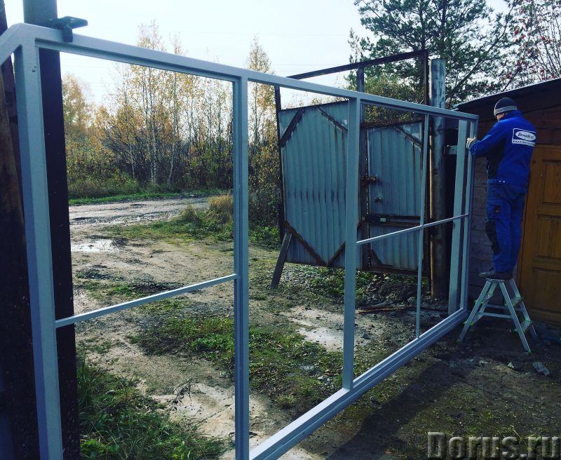 Откатные сдвижные ворота любого типа из профлиста и сэндвича - Материалы для строительства - Произво..., фото 2