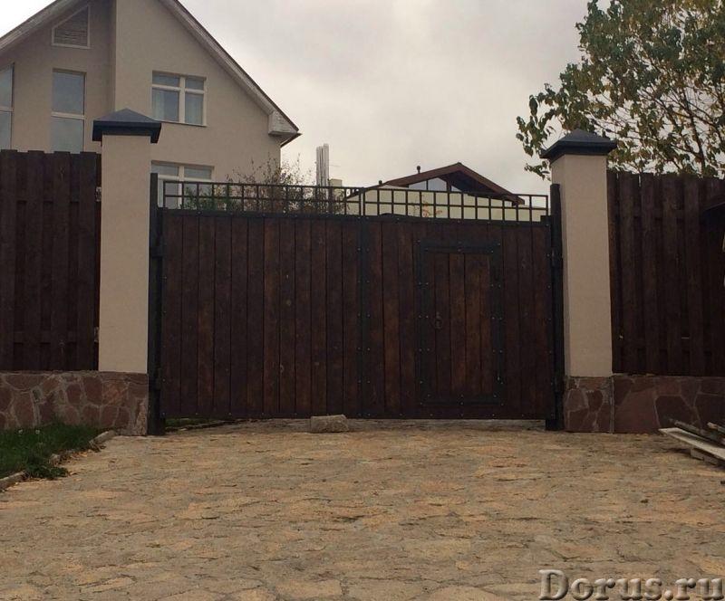 Откатные сдвижные ворота любого типа из профлиста и сэндвича - Материалы для строительства - Произво..., фото 3